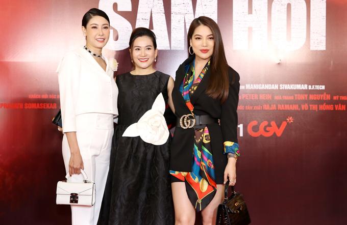 Hoa hậu Hà Kiều Anh vui vẻ hội ngộ hai cô bạn thân Anh Thơ và Trương Ngọc Ánh.