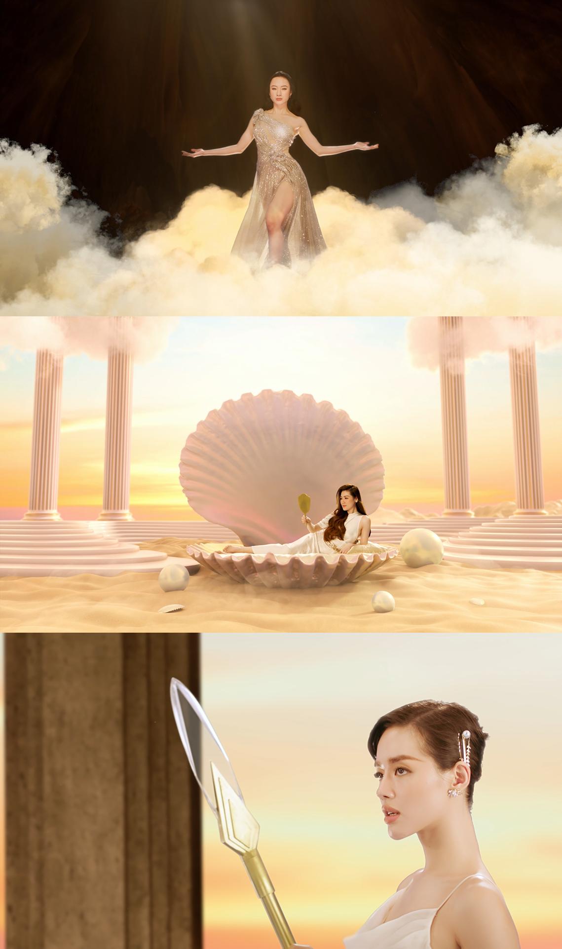 Hình ảnh 3 nữ thần Lamercy đại diện cho sự tự tin - nhan sắc - sức mạnh.