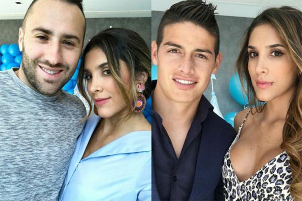 Một trong những cô em gái nổi tiếng nhất là Daniela Ospina - em gái thủ môn David Ospina đang khoác áo Napoli. Người đẹp 28 tuổi còn là vợ cũ tiền vệ James Rodriguez (Everton).