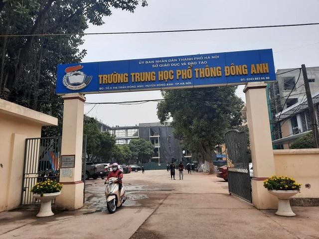 Trường THPT Đông Anh, nơi ba nạn nhân theo học. Ảnh: Nguyễn Ngoan