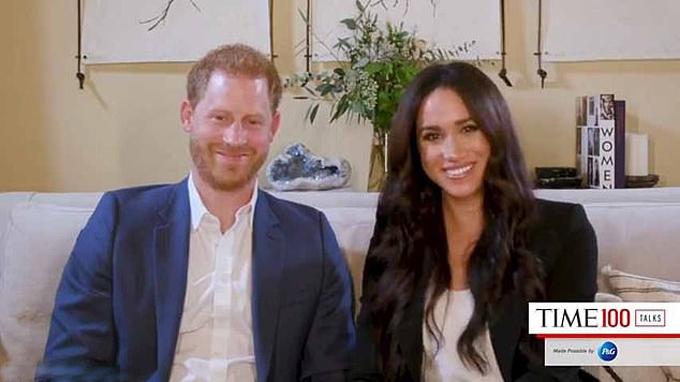 Harry và Meghan ở nhà mới tại California, Mỹ. Ảnh: Time.