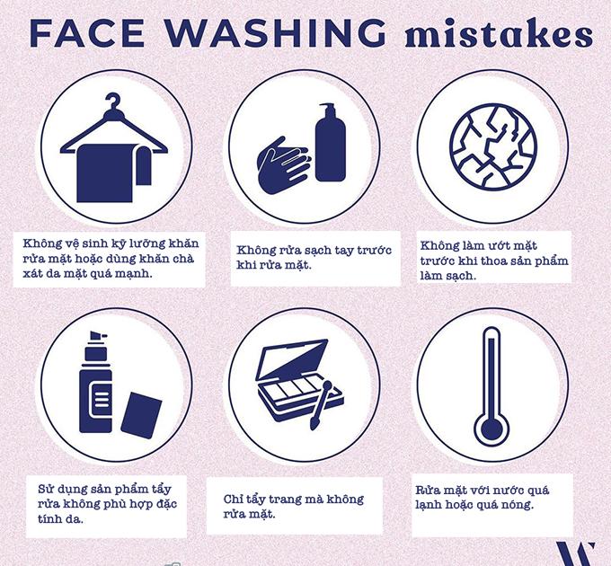 6 lỗi khi rửa mặt khiến da dưỡng mãi vẫn không đẹp