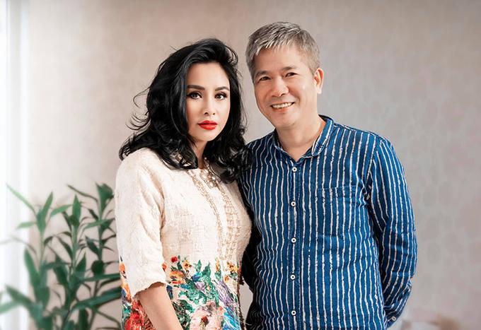 Thanh Lam và bạn trai - bác sĩ Tiến Hùng.