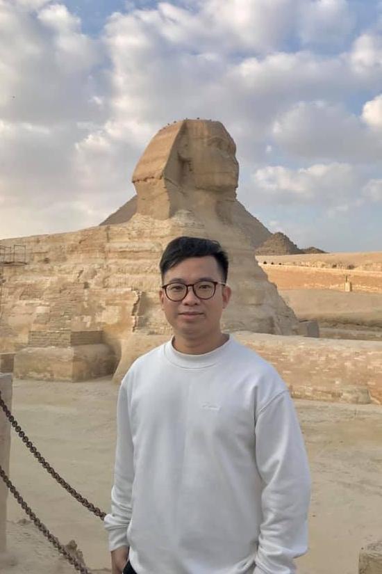 Anh có niềm đam mê du lịch nhiều nơi: Ai Cập (ảnh), Thổ Nhĩ Kỳ, Hàn Quốc...