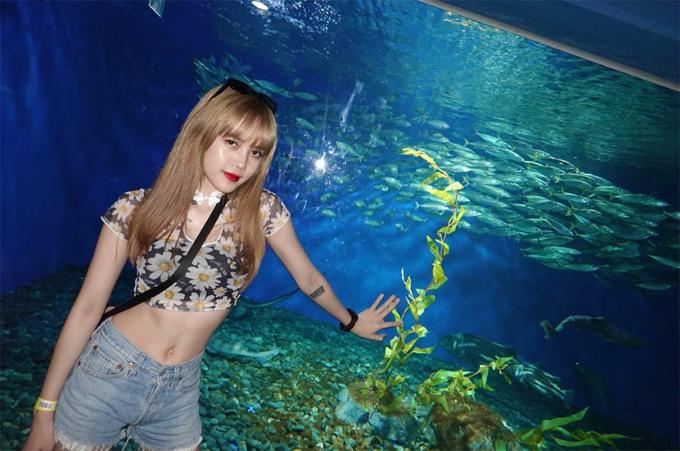 Không chỉ yêu thích khí hậu, không gian ngoài trời ở Nhật, bạn gái Sơn Tùng còn mê mẩn những loài động vật dưới nước trong chuyến ghé thăm aquarium ở Tokyo.