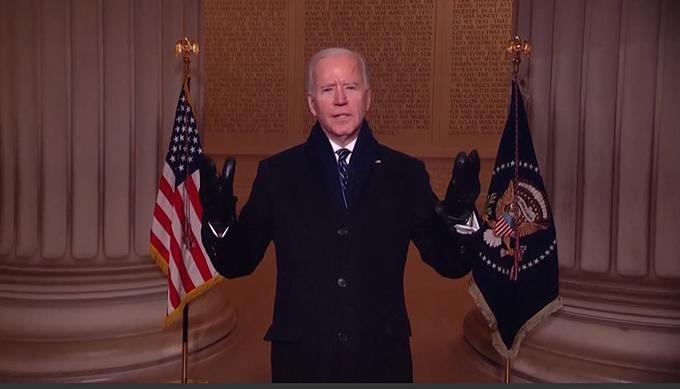 Gia đình Biden xem bắn pháo hoa mừng lễ nhậm chức - 24