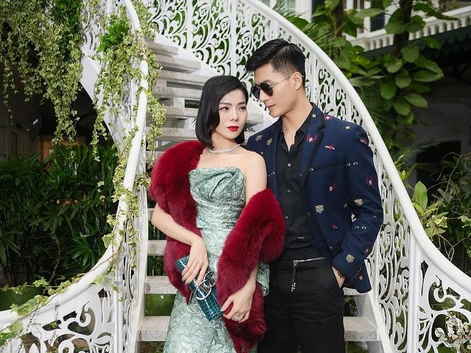 Cặp đôi Lệ Quyên - Lâm Bảo Châu trong một event trước đó.