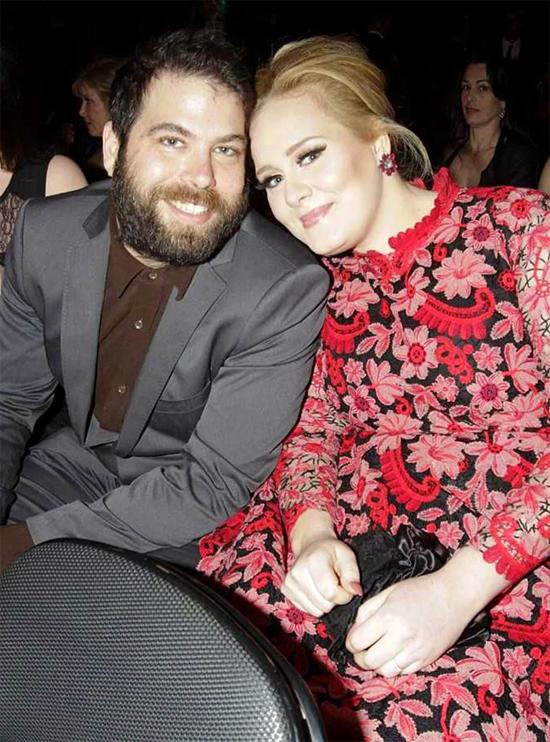 Adele và Simon Konecki khi còn bên nhau.