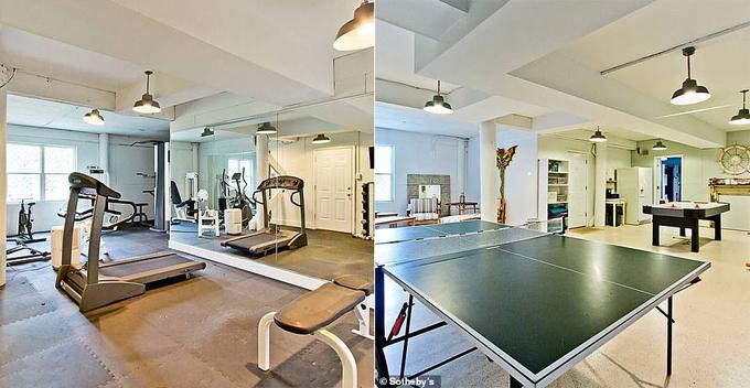 Phòng gym và phòng giải trí rộng rãi.
