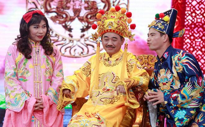 Các nghệ sĩ Công Lý, Quốc Khánh và Xuân Bắc khi đóng Táo Quân.