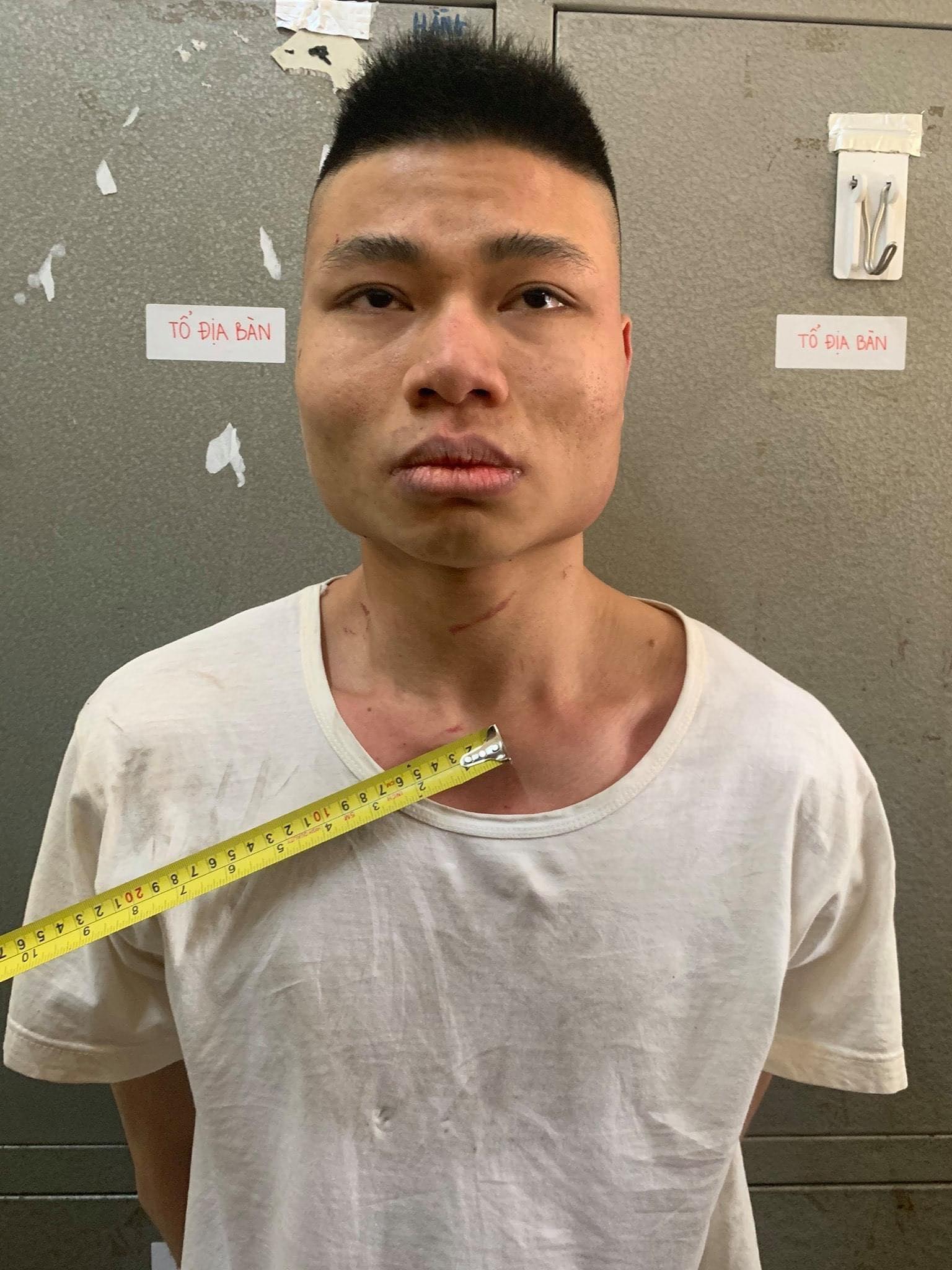 Đào Văn Thắng tại cơ quan điều tra. Ảnh:Công an cung cấp.