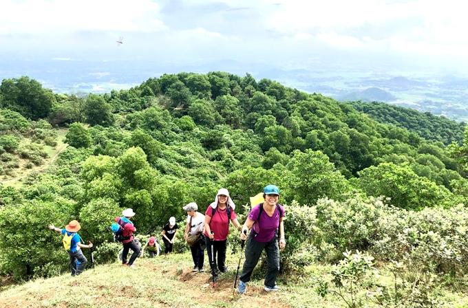 Chinh phục núi Hàm Lợn, bạn sẽ được hòa mình với thiên nhiên và chiêm ngưỡng nhiều cảnh đẹp.