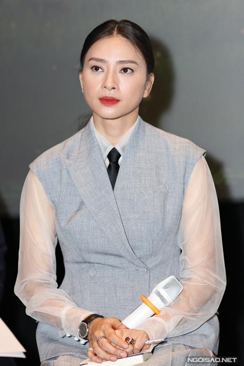 Nhà sản xuất Ngô Thanh Vân tại họp báo phim Trạng Tí phiêu lưu ký chiều 24/1.