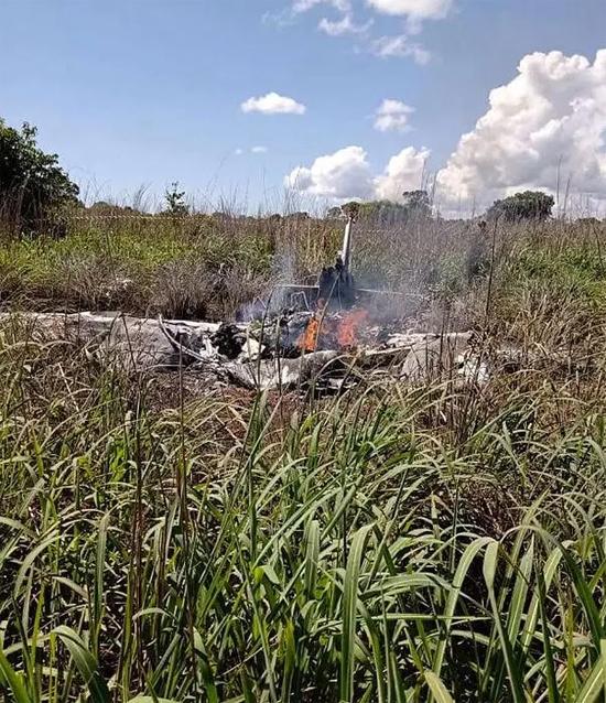 Mảnh vỡ máy bay rơi khiến 4 cầu thủ Palmas thiệt mạng hôm 24/1. Ảnh: The Sun.
