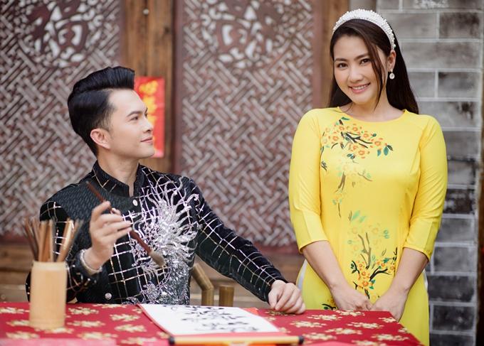 Ngọc Lan tình tứ với Nam Cường trong MV xuân - 6
