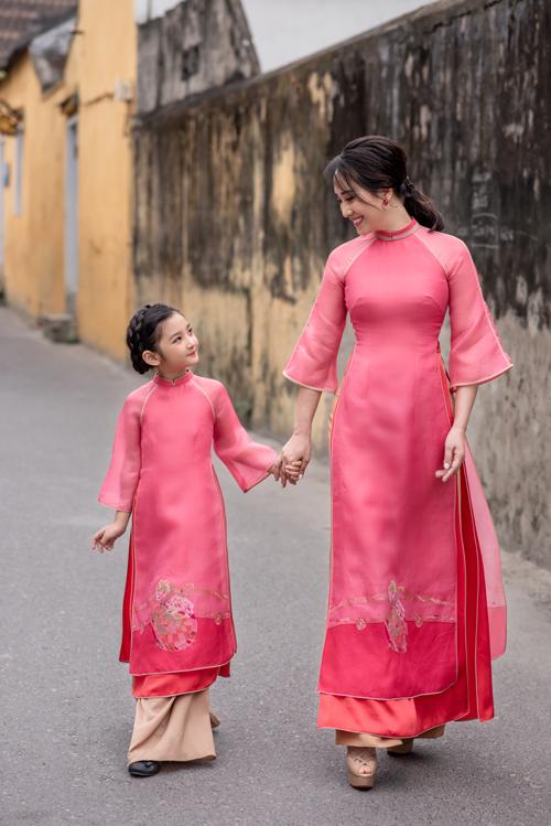 Áo dài cho mẹ và bé - 14
