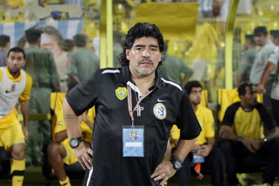 Maradona có hai lần làm HLV tại các đội bóng ở Dubai, UAE. Ảnh: Al Jazeera.