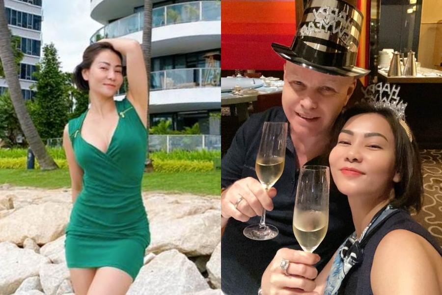 Vợ chồng Thu Minh tân hưởng hạnh phúc bên nhau ở Singapore thời gian qua.