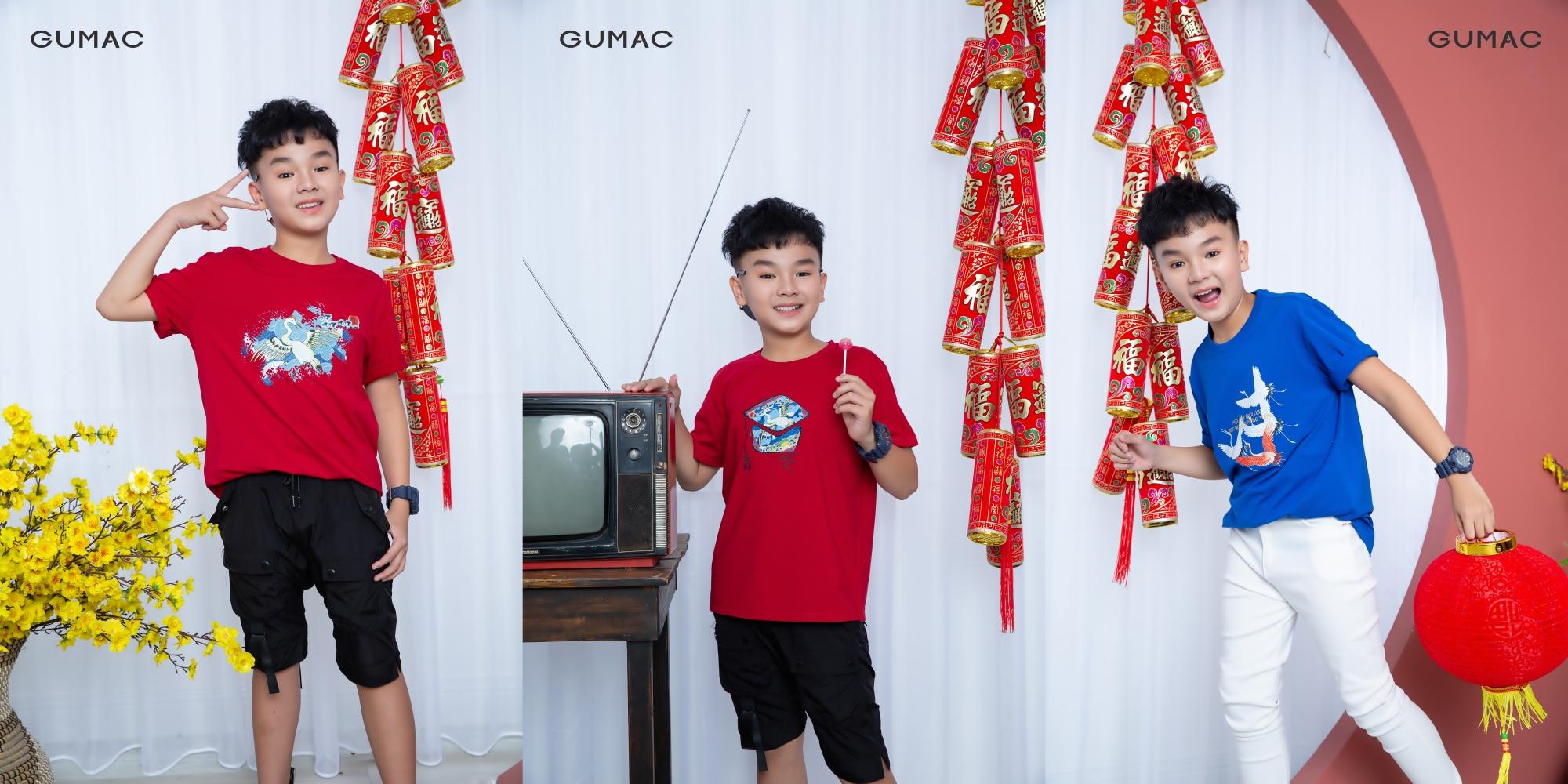 Với màu sắc tươi tắn, họa tiết mang tính tượng hình cao về làng quê Việt, các thiết kế của Gu Trạng Tí là niềm tự hào về nét đẹp dân tộc theo cách cảm nhận và chắt lọc riêng của Gumac.