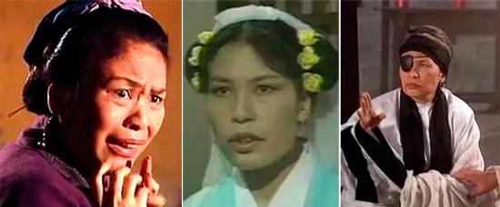 Hình ảnh bà Dư Mộ Liên trong các vai diễn để đời, chủ yếu là vai phụ nữ xấu xí, dị hợm.