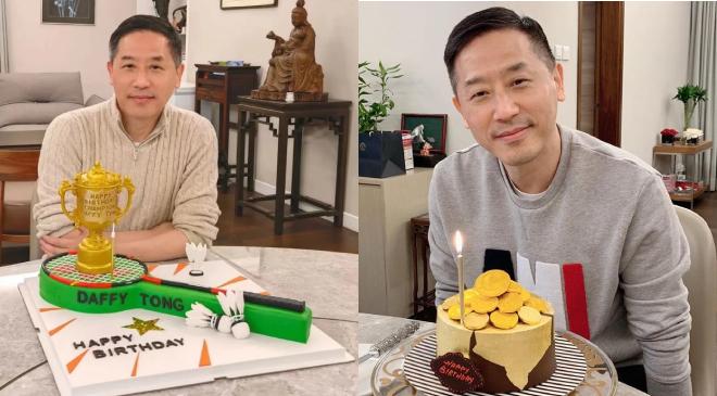 Ảnh sinh nhật Đường Hạc Đức năm 2021 (trái) và 2020 (phải), cho thấy người đàn ông họ Đường trẻ trung, khỏe khoắn so với tuổi thực.