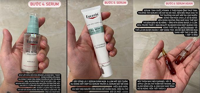 Hoàng Ku nhận xét 2 loại serum cho da mụn của Eucerin hiệu quả cao trong việc giảm mụn nhưng công dụng làm mờ thâm không nổi bật.