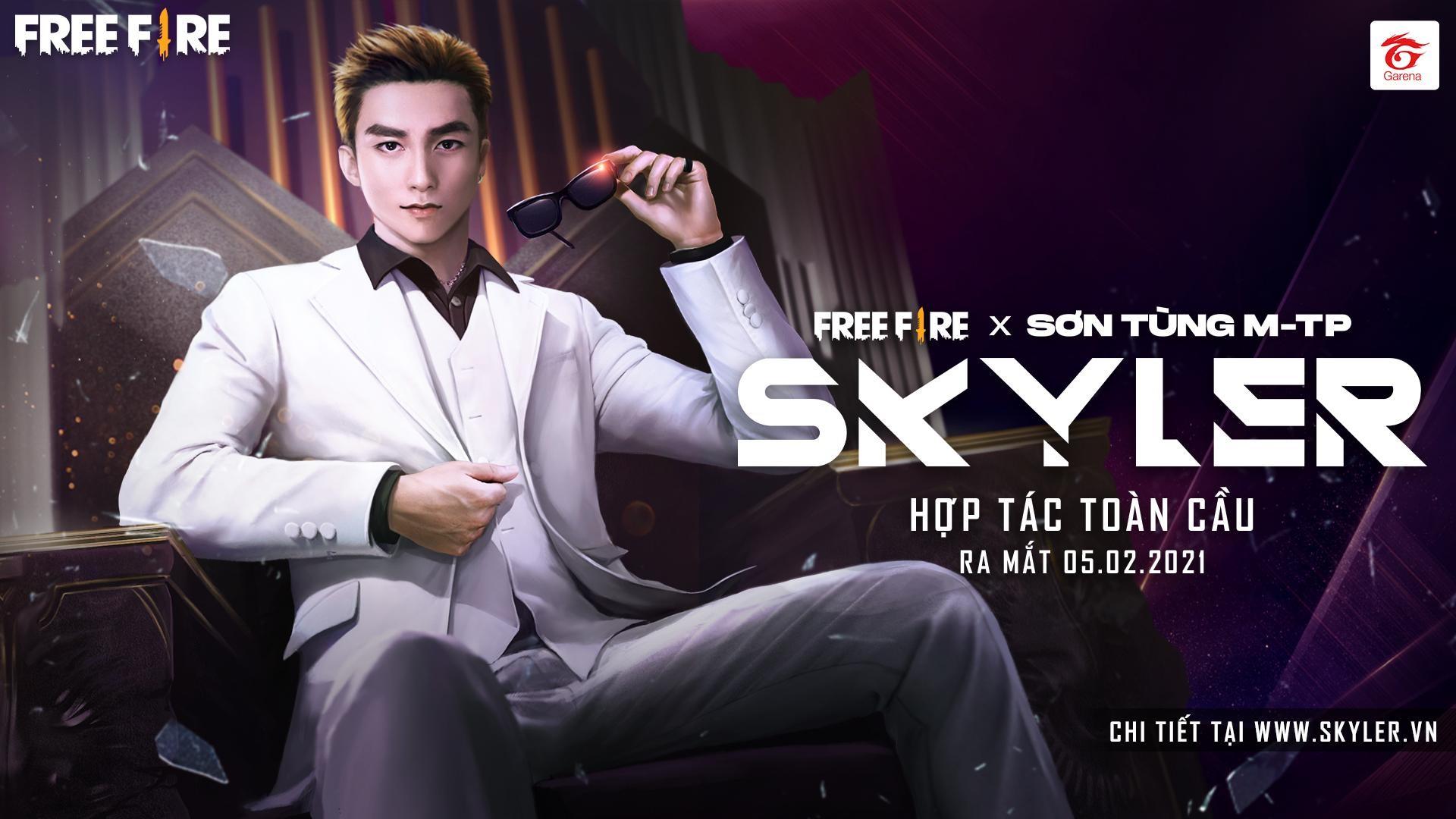 Skyler trong thế giới Free Fire là ca sĩ, vũ công đạt đỉnh cao danh tiếng khi mới ở độ tuổi đôi mươi. Ảnh: Garena