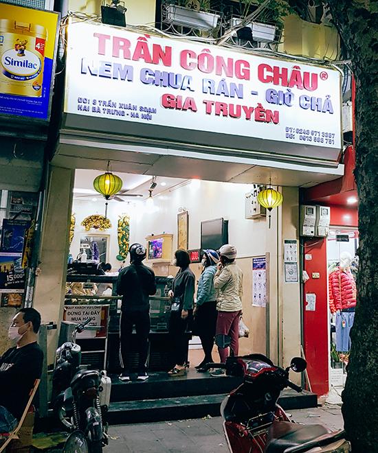 Cửa hàng Trần Công Châu chi nhánh trên phố Trần Xuân Soạn. Ảnh: Nguyên Chi