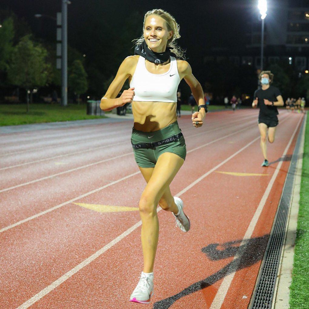 Lucie đặt mục tiêu chinh phục Olympic Trials.