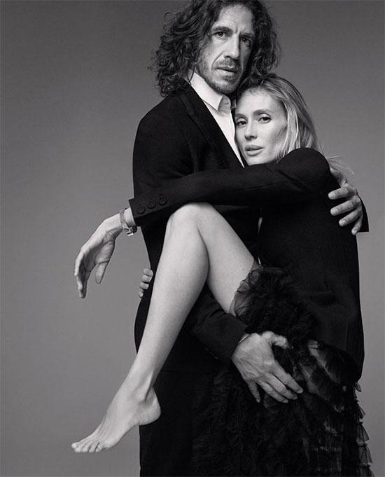 Carles Puyol và bạn gái lâu năm Vanessa Lorenzo đón lễ Tình nhân với bức ảnh cá tính.