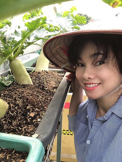 Chị Quỳnh Hương tiết lộ mọi kiến thức chăm vườn, trồng rau trái đều được chị học hỏi qua Youtube, ban đầu cũng gặp nhiều thất bại nhưng chị kiên trì nên đã thành công.
