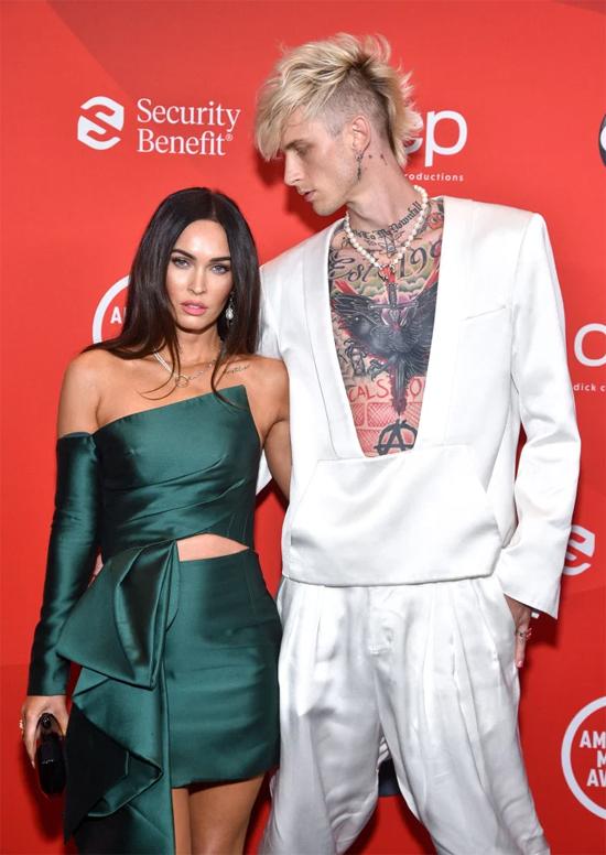 Megan và bạn trai tham dự lễ trao giải âm nhạc hồi tháng 8 năm ngoái.