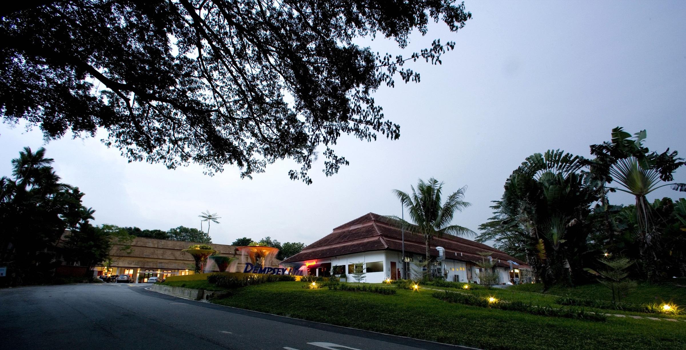 Không gian yên ắng, thoáng đãng tại Dempsey Hill - một trong những điểm đến quen thuộc của Bằng Lăng tại Singapore.