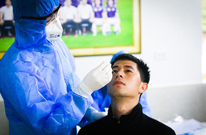 Đình Trọng đã trở lại thi đấu sau khi phải ngồi ngoài cả mùa giải năm ngoái vì chấn thương.