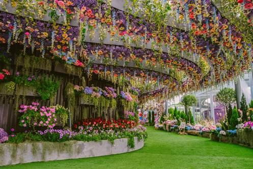 Triển lãm Floral Fantasy tại Flower Dome, Gardens by the Bay. Nguồn: Tổng cục Du lịch Singapore.