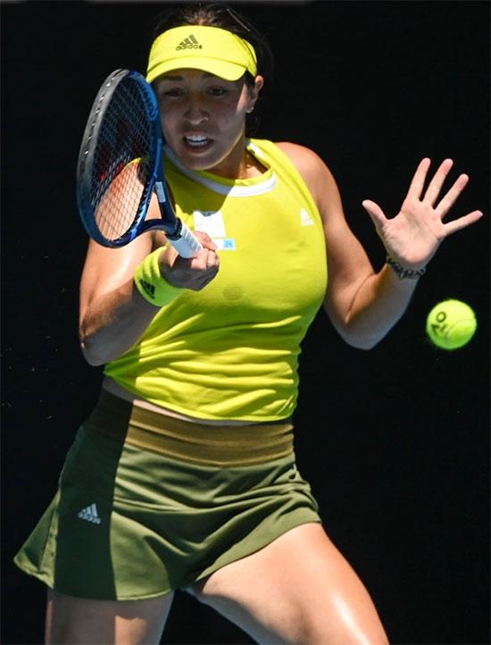 Jessica Pegula lần đầu lọt vào tứ kết một giải Grand Slam tại Australia mở rộng năm nay. Ảnh: Rex Features.
