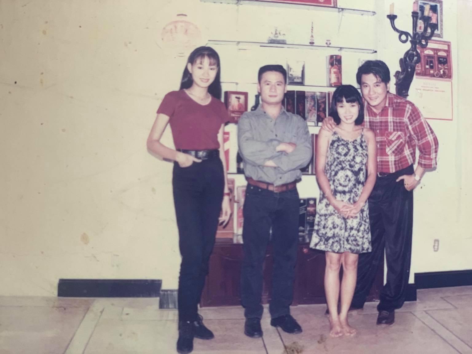 Bốn diễn viên chính của Trái tim không ngủ yên (từ trái qua): Tăng Huệ Văn, Bằng Kiều, Phương Thanh, Hoàng Phúc.