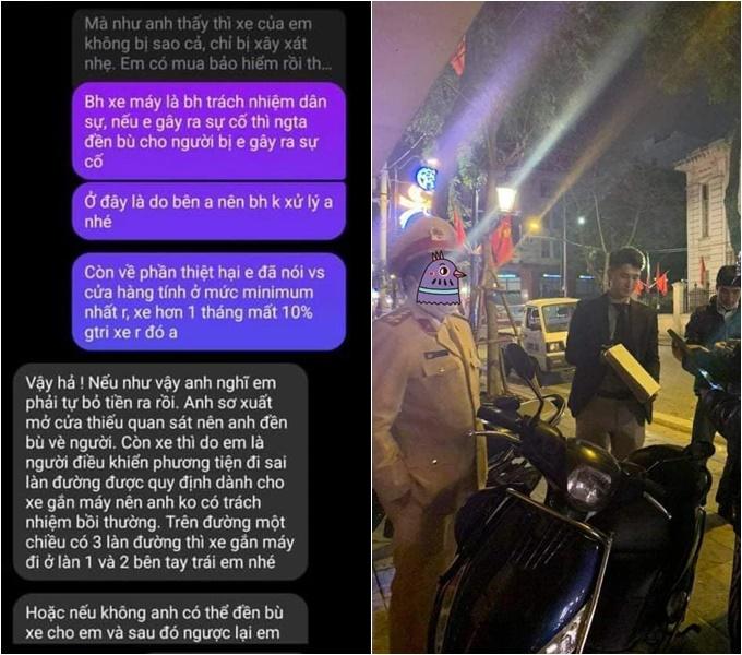 Tin nhắn kỳ kèo, đôi co giữa Huỳnh Anh và người bị nạn.