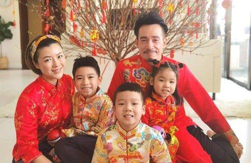 Đại gia đình Trần Hào trong ngày Tết Nguyên Đán.