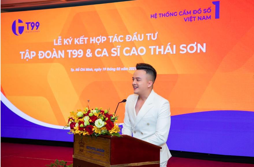 Cao Thái Sơn tại sự kiện hợp tác. Ảnh: Hệ thống T99.