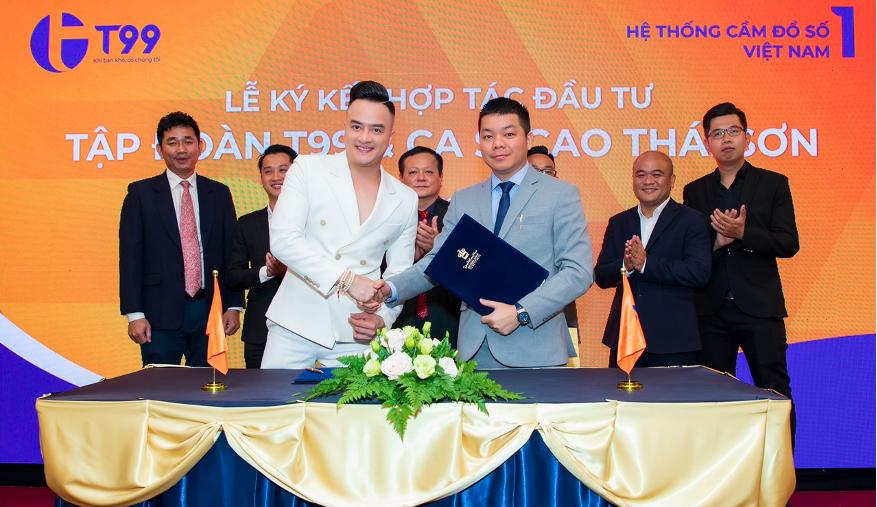 Ca sĩ Cao Thái Sơn đầu tư vào T99 trong năm 2021. Ảnh: Hệ thống T99.