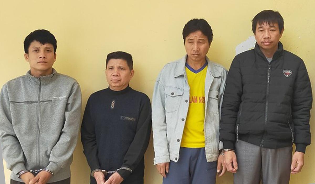 Nhóm trộm trâu đang bị tạm giam.