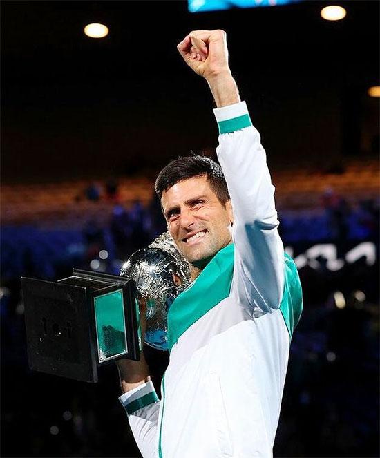 Nole bất bại trong 9 lần lọt vào chung kết Australia Mở rộng. Ảnh: Instagram.
