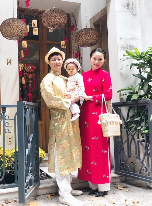 Gia đình Đức An - Phan Như Thảo đón Tết lần đầu bên nhau.