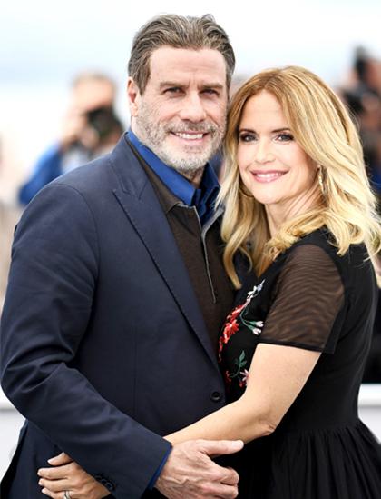 Tài tử John Travolta và người vợ quá cố Kelly Preston. Ảnh: Usmagazine.