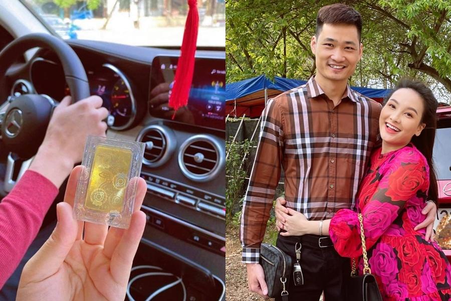 Chồng diễn viên Bảo Thanh tâm lý tặng quà Valentine muộn kết hợp ngày vía thần Tài. Đó là một cây vàng trị giá hơn 56 triệu đồng.
