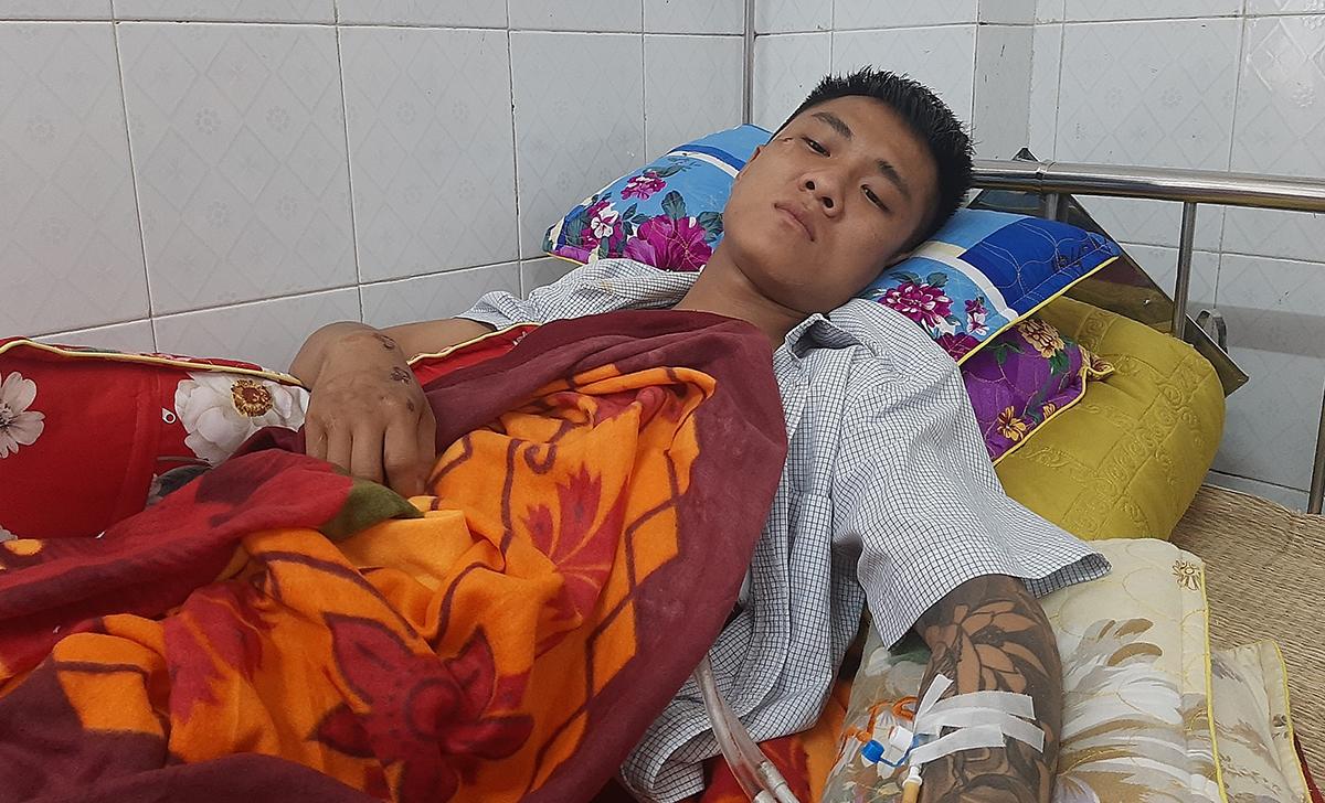 Nạn nhân điều trị tại bệnh viện.