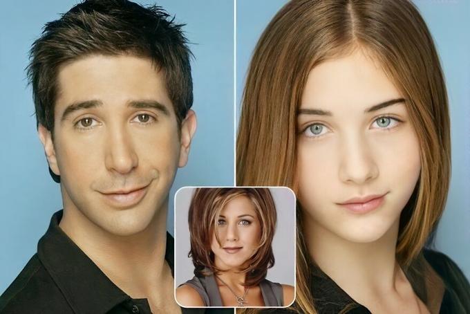 Tác giả chùm ảnh tạo ra cô con gái mới cho cặp đôi David Schwimmer - Jennifer Aniston của series sitcom đình đám Friends.
