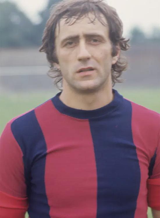 Cựu hậu vệ Inter Mauro Bellugi chỉ có một bàn thắng trong 12 năm sự nghiệp. Ảnh: The Sun.