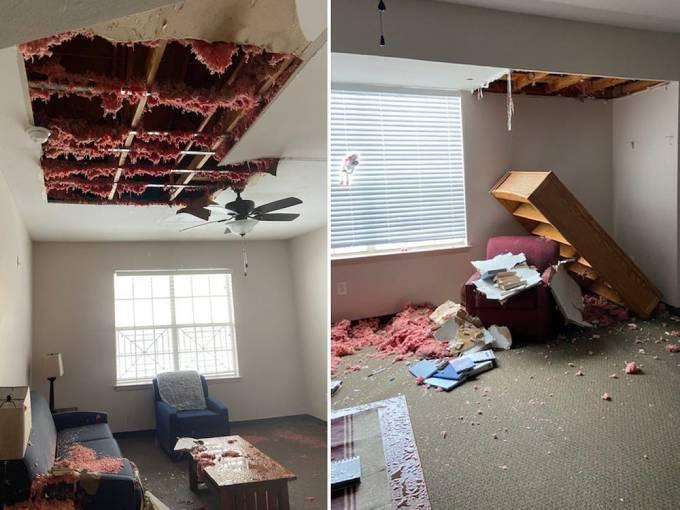 Nhà Sussex hỗ trợ sửa phần mái nhà cho một khu nhà trú ẩn dành cho phụ  nữ và trẻ em ở bang Texas. Ảnh: Genesis Womens Shelter & Support.
